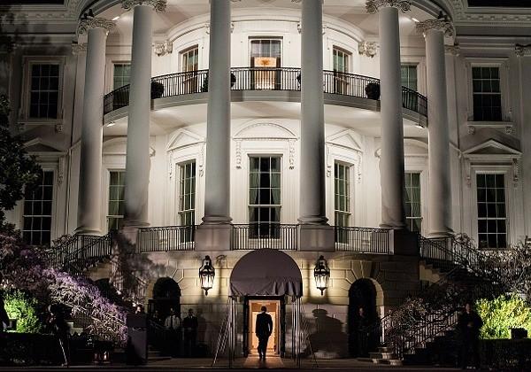 President Obama Entering the White House